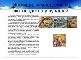 Жилища, земледелие и скотоводство у чувашей У болгар и сувар было несколько видо