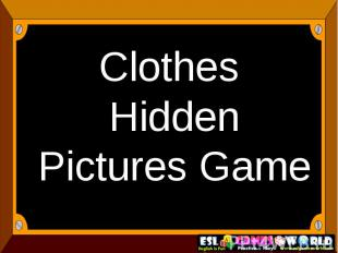Clothes Hidden Pictures Game