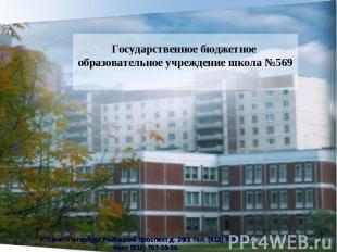 Государственное бюджетное образовательное учреждение школа №569
