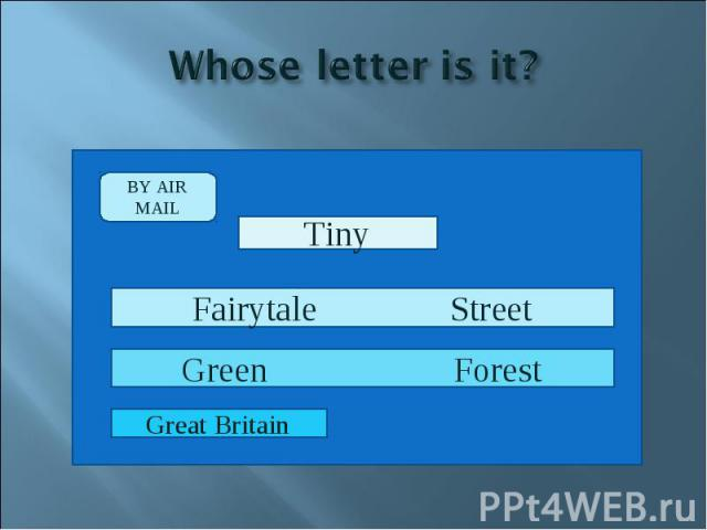 Whose letter is it?
