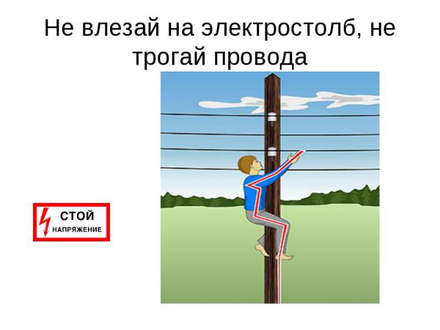Не влезай на электростолб, не трогай провода