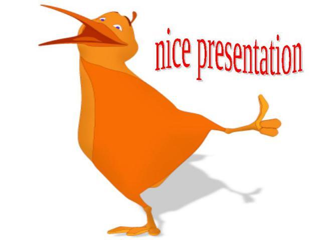 nice presentation