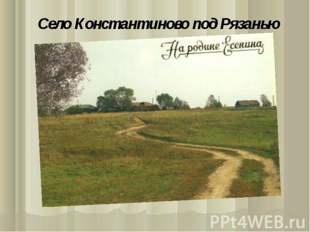 Село Константиново под Рязанью
