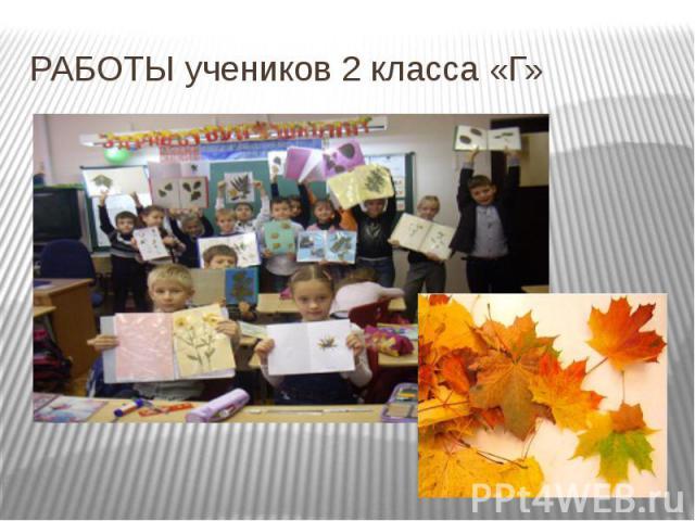 РАБОТЫ учеников 2 класса «Г»