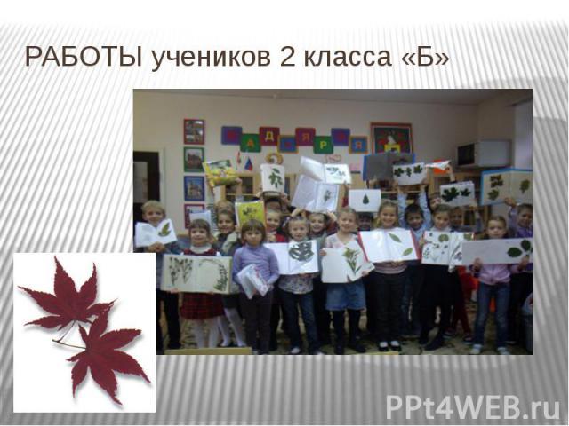 РАБОТЫ учеников 2 класса «Б»