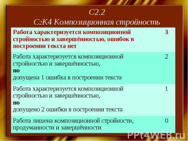 С2.2С2К4 Композиционная стройность