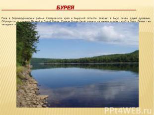 БУРЕЯ Река в Верхнебуреинском районе Хабаровского края и Амурской области, впада