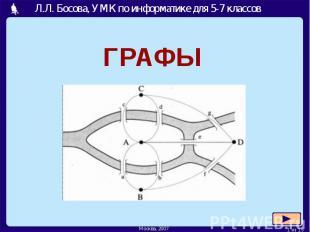 Л.Л. Босова, УМК по информатике для 5-7 классов ГРАФЫ