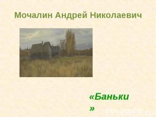Мочалин Андрей Николаевич«Баньки»