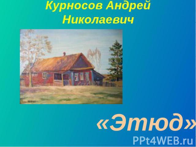Курносов Андрей Николаевич«Этюд»