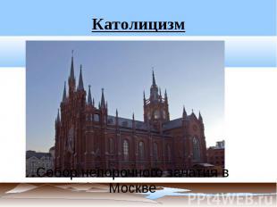 Католицизм Собор непорочного зачатия в Москве