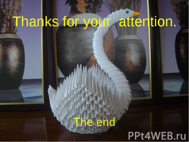 Thanks for your attention.The end