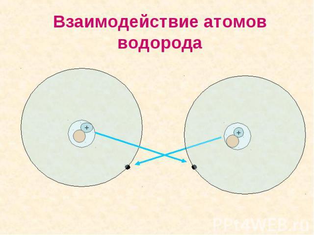 Взаимодействие атомов водорода