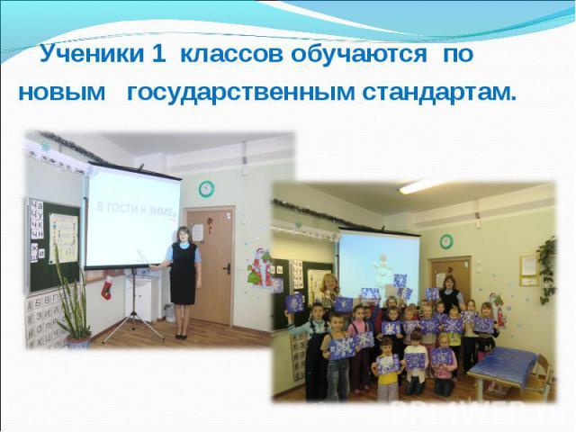 Ученики 1 классов обучаются по новым государственным стандартам.