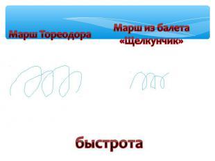 Марш ТореодораМарш из балета«Щелкунчик»быстрота