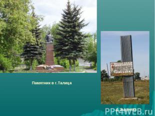 Памятник в г.ТалицаД.Зырянка