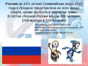 Россия на ХХХ летних Олимпийских играх 2012 года в Лондоне представлена во всех