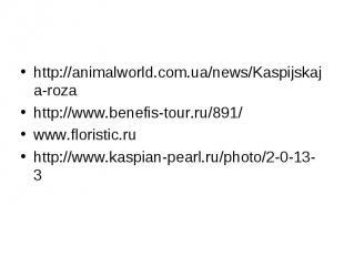 http://animalworld.com.ua/news/Kaspijskaja-rozahttp://www.benefis-tour.ru/891/ww