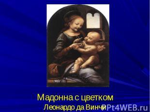 Мадонна с цветкомЛеонардо да Винчи
