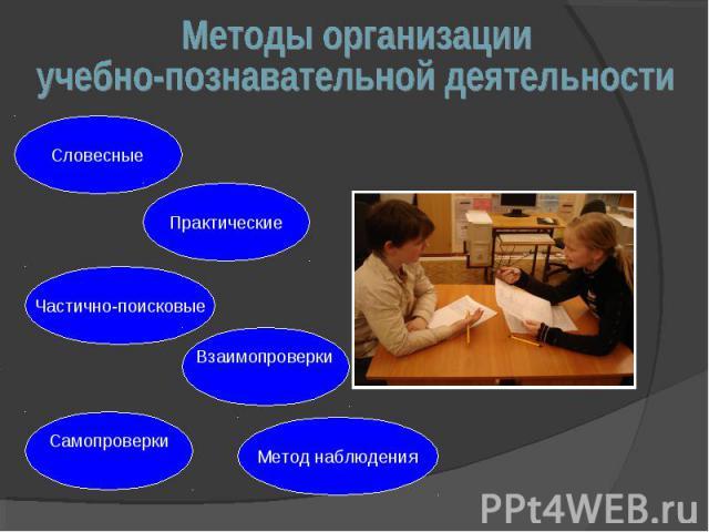 Методы организацииучебно-познавательной деятельности