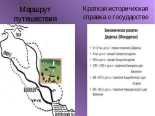 Маршрут путешествияКраткая историческая справка о государстве