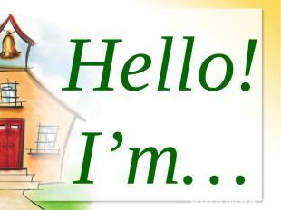 Hello!I'm…