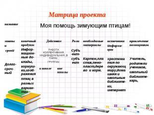 Матрица проекта