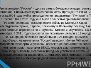 """Авиакомпания """"Россия"""" - одна из самых больших государственных компаний"""