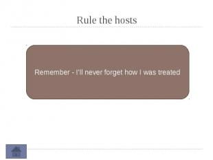 Rule the hosts