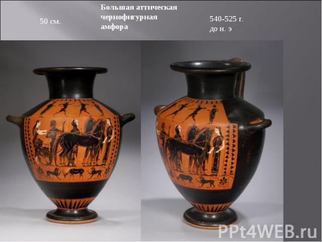 Большая аттическая чернофигурная амфора 540-525 г. до н. э