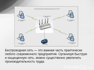 Беспроводная сеть — это важная часть практически любого современного предприятия