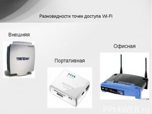Разновидности точек доступа Wi-Fi