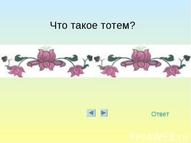 Что такое тотем?