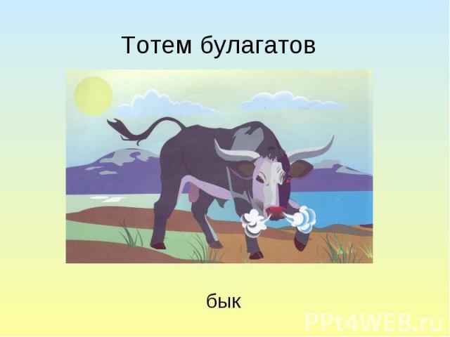 Тотем булагатов бык