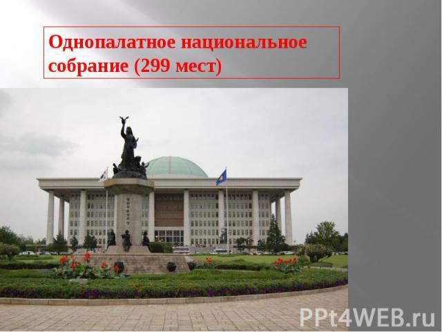 Однопалатное национальное собрание (299 мест)