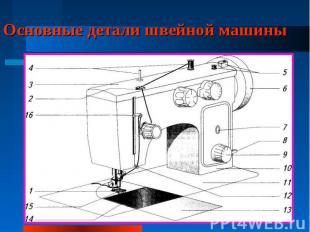Основные детали швейной машины