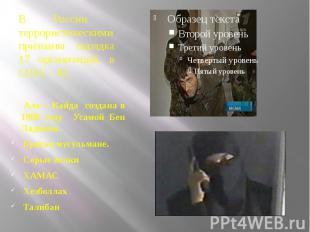 В России террористическими признаны порядка 17 организаций, в США – 42. Аль – Ка
