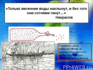 «Только весенние воды нахлынут, и без того они сотнями гинут…» Некрасов Выживают