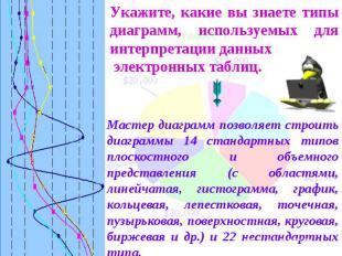 Укажите, какие вы знаете типы диаграмм, используемых для интерпретации данных эл