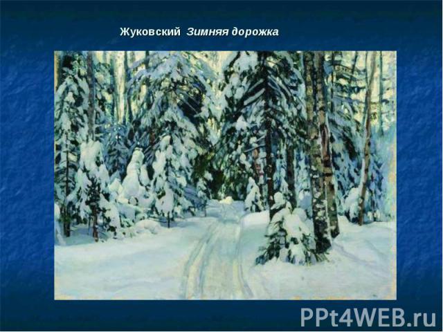 Жуковский Зимняя дорожка