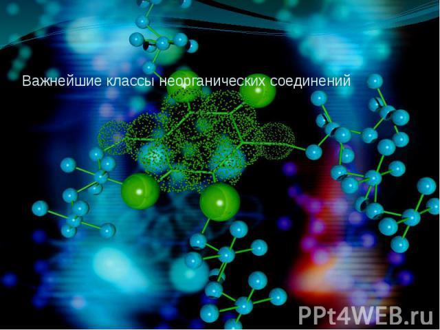 Важнейшие классы неорганических соединений