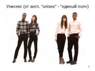 """Унисекс (от англ. """"unisex"""" - """"единый пол«)"""