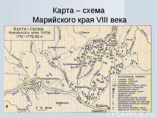 Карта – схема Марийского края VIII века