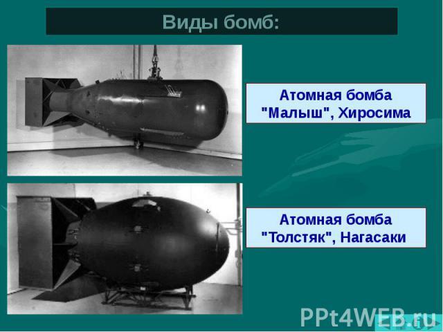 Виды бомб: Атомная бомба