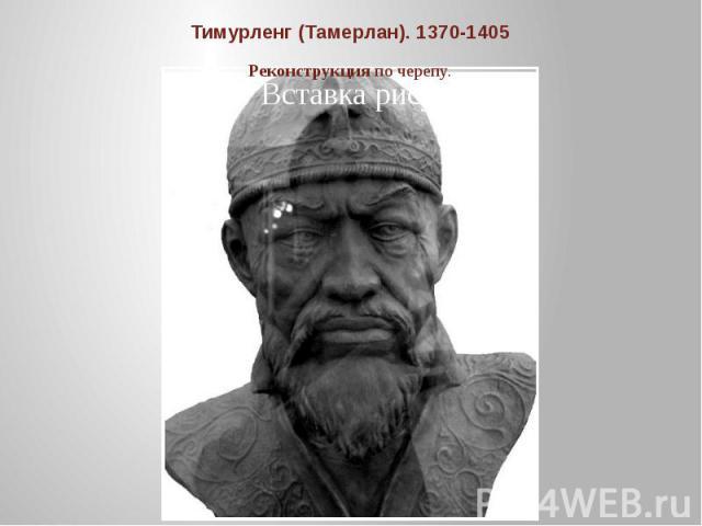 Тимурленг (Тамерлан). 1370-1405Реконструкция по черепу.