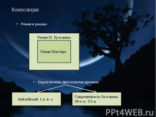Композиция Роман в романе Переплетение двух пластов времени