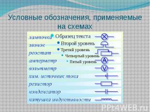 Условные обозначения, применяемые на схемах