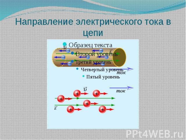 Направление электрического тока в цепи