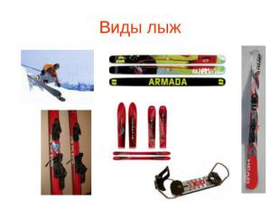 Виды лыж