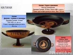 килики Килик Дионис, силены и менадыДревняя Греция, Аттика550-540-е гг. до н.э.Г